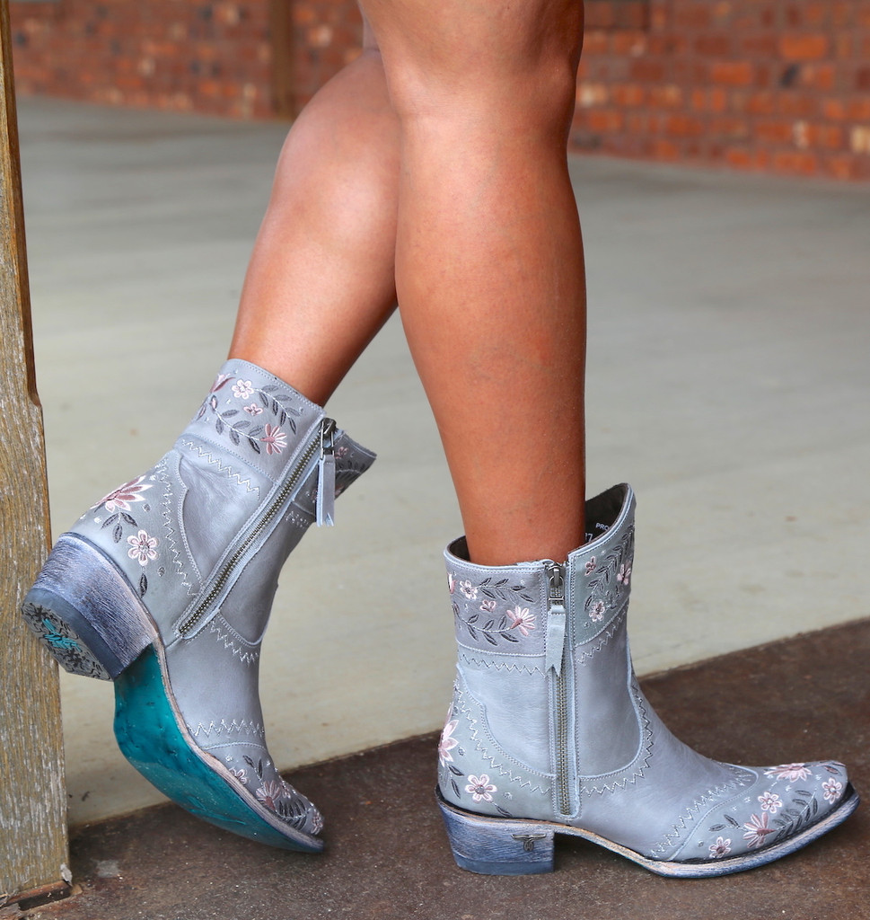 Lane Landrum Gardens Grey Boots LB0387B Sole