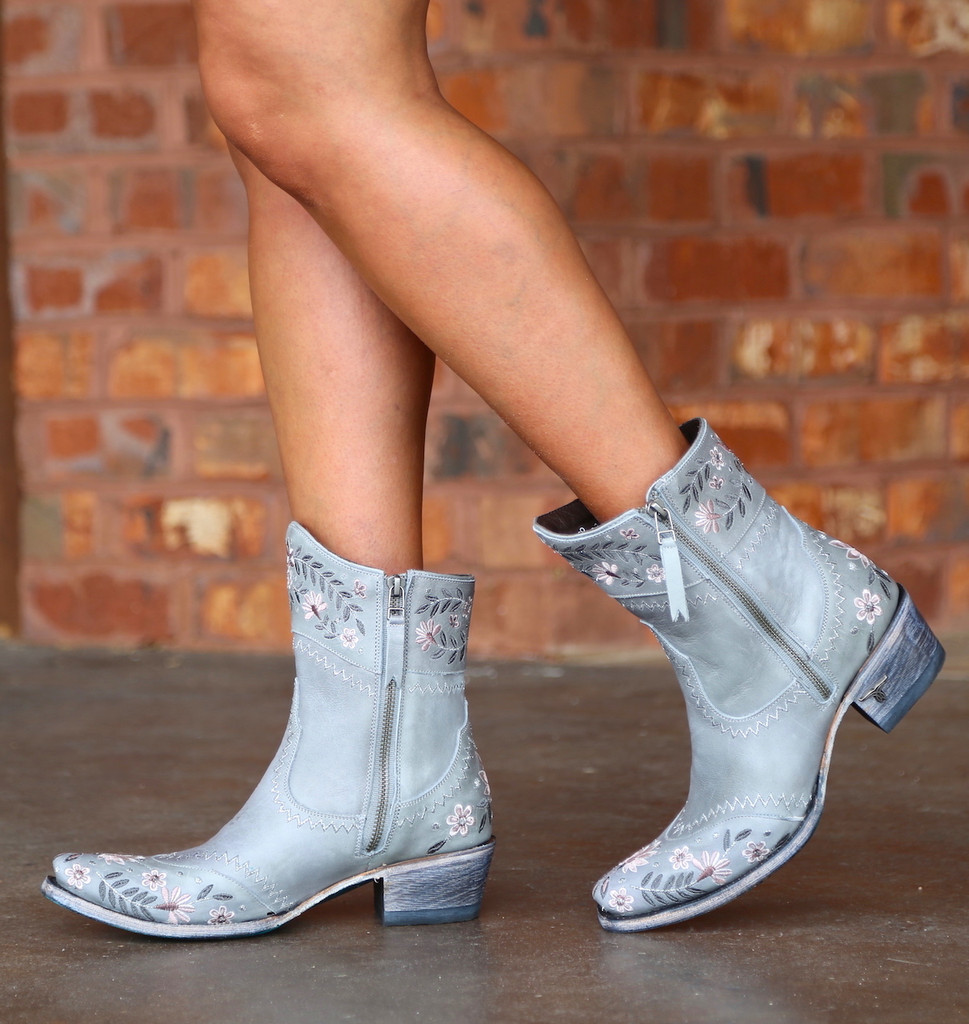 Lane Landrum Gardens Grey Boots LB0387B Walk