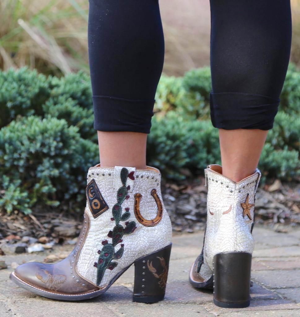Old Gringo Galena Milk Boots BL3086-2 Heel