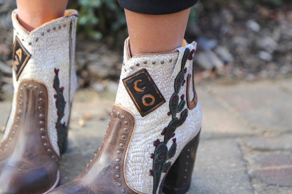 Old Gringo Galena Milk Boots BL3086-2 Detail