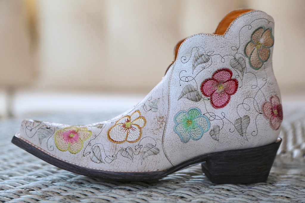 Old Gringo Pansy White Crackle Boot SHL2980-5 Picture