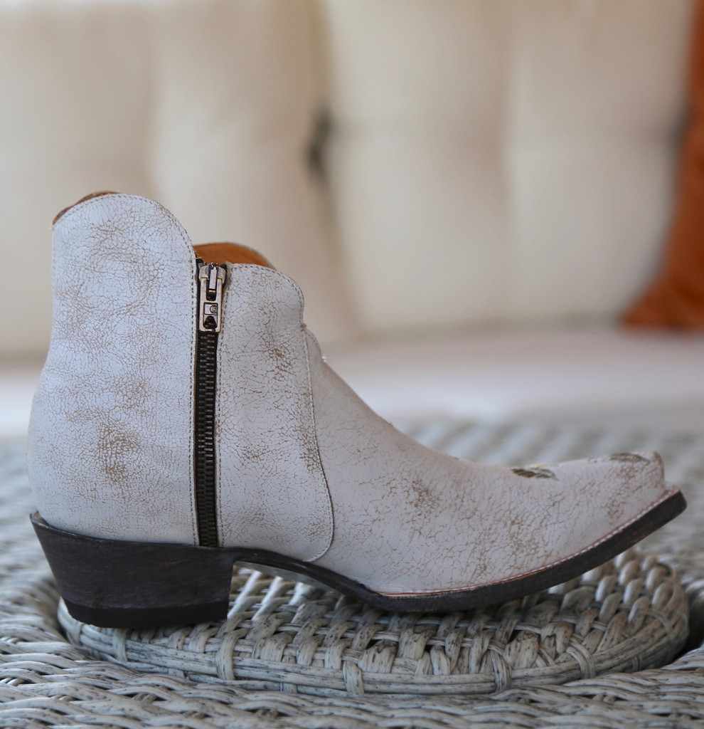 Old Gringo Pansy White Crackle Boot SHL2980-5 Zipper