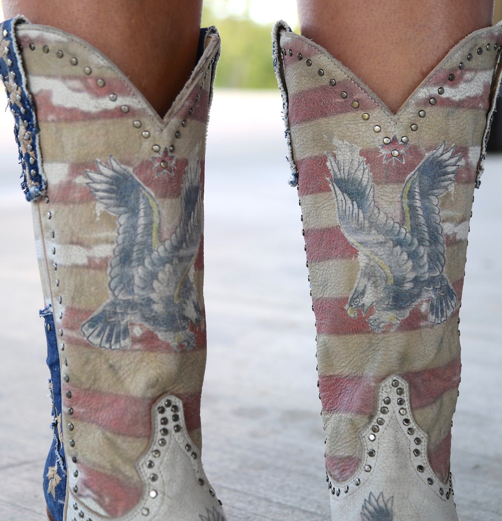 Yippee Ki Yay by Old Gringo Jorie Taupe Boots YL339-1 Detail
