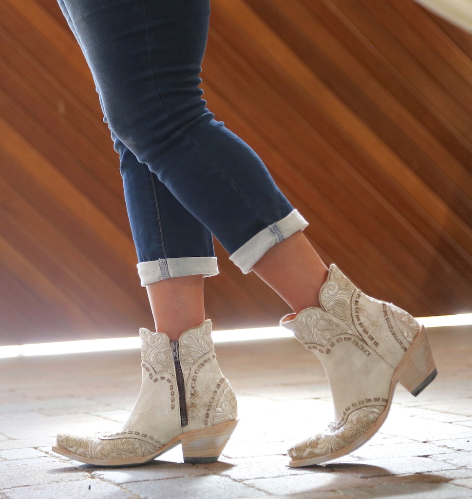 Old Gringo Erin Short Taupe Boots BL3084-2 Image