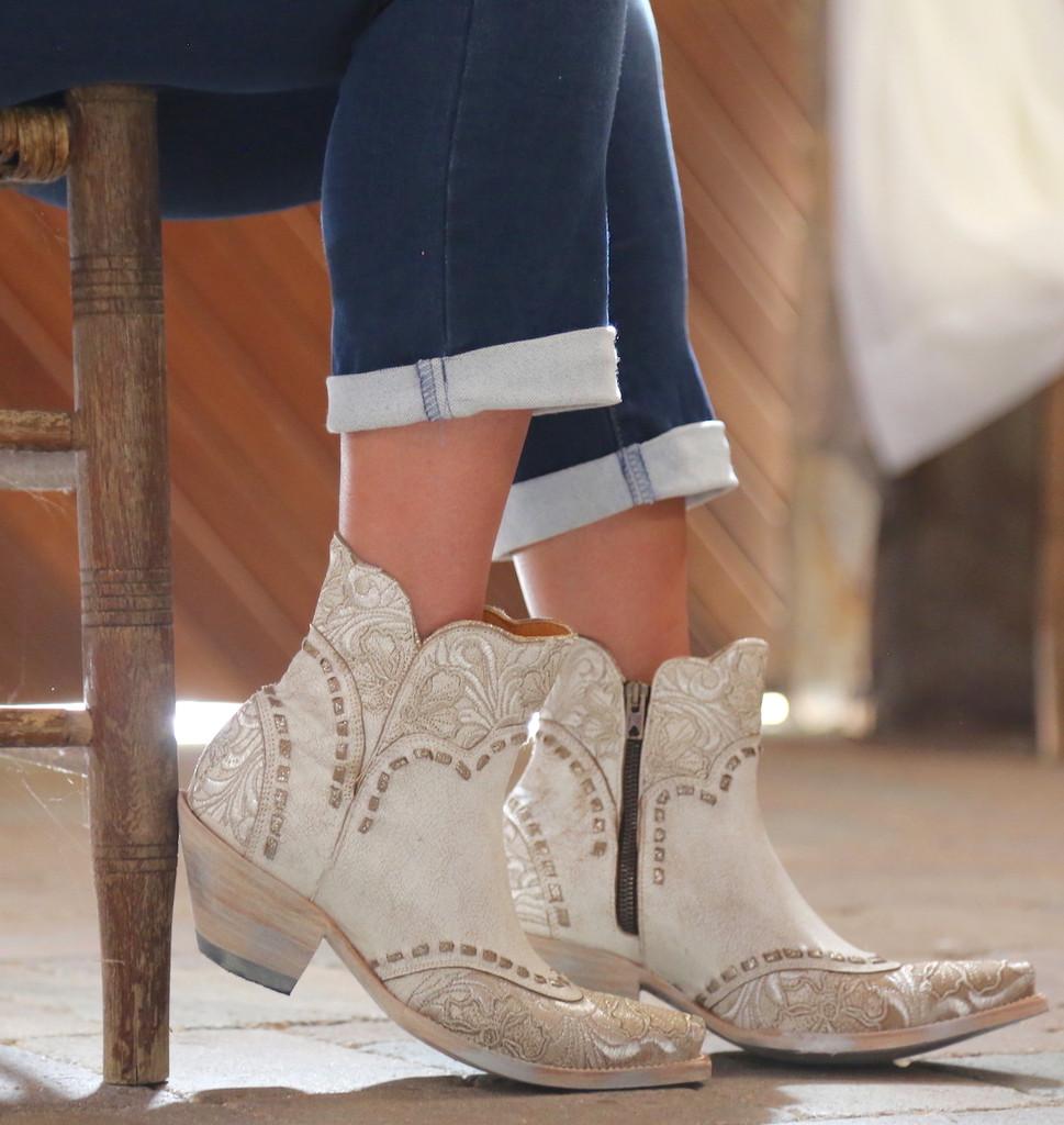 Old Gringo Erin Short Taupe Boots BL3084-2 Side