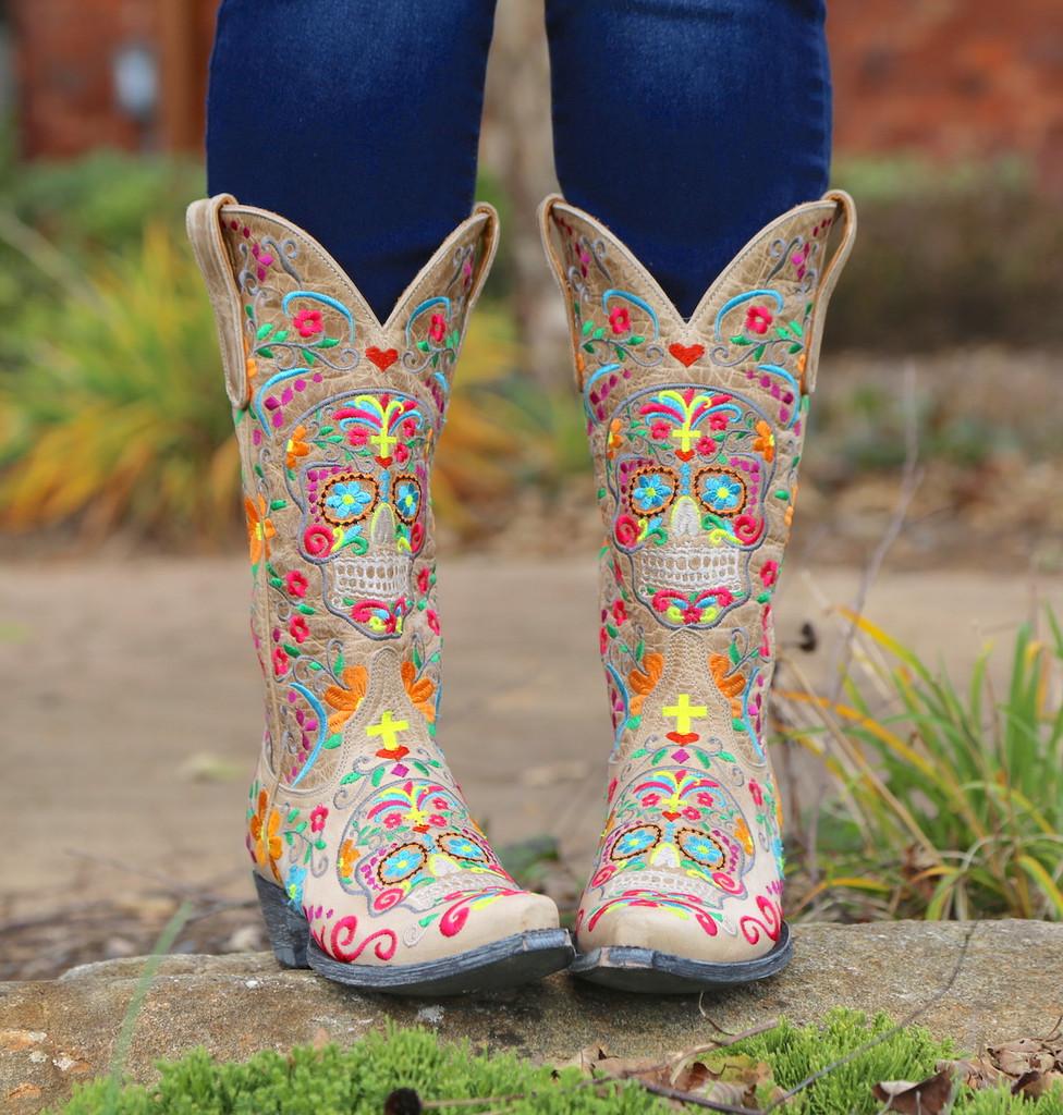 Old Gringo Klak Bone Boots L1300-22 Image