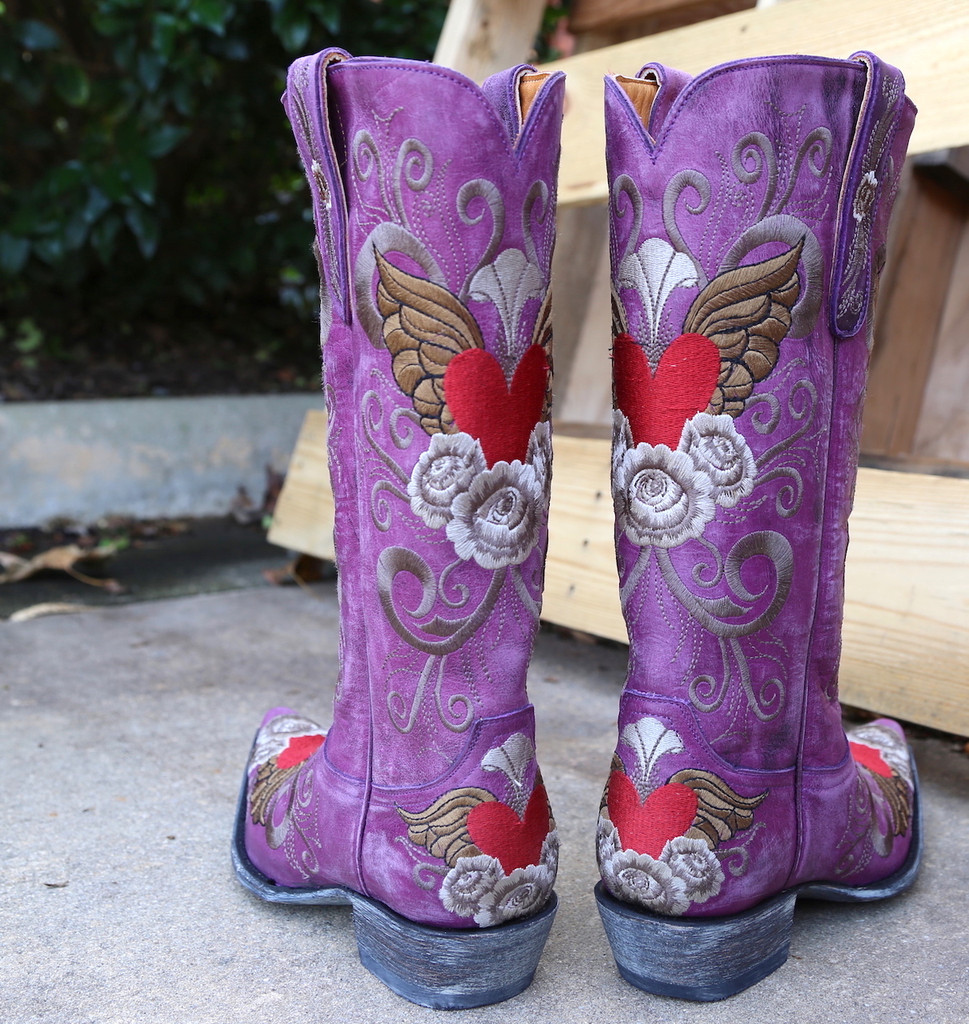 Old Gringo Grace Purple Boots L639-10 Heel