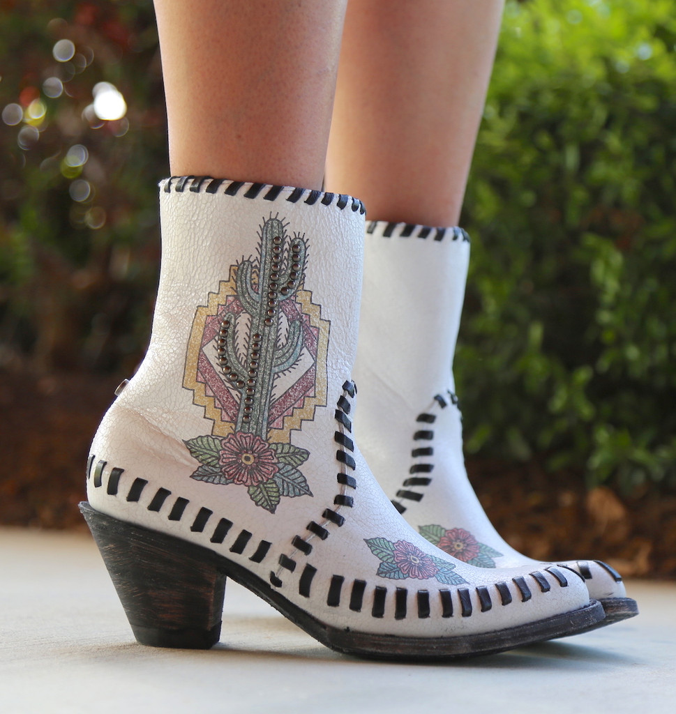 Double D by Old Gringo Saguaro White Boots DDBL040-1 Image