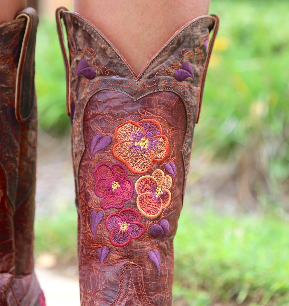 Old Gringo Pansy Mango Boots Sintino L2621-6 Detail