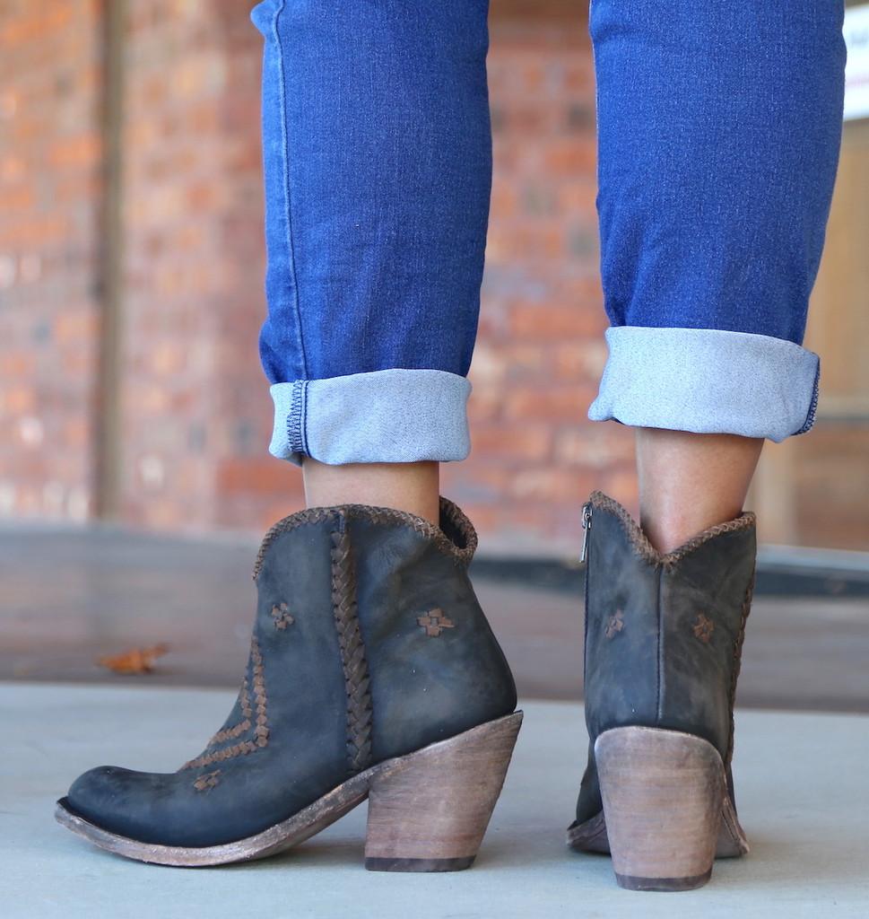 Liberty Black Aztec Zipper Boot Negro LB712376 Heel