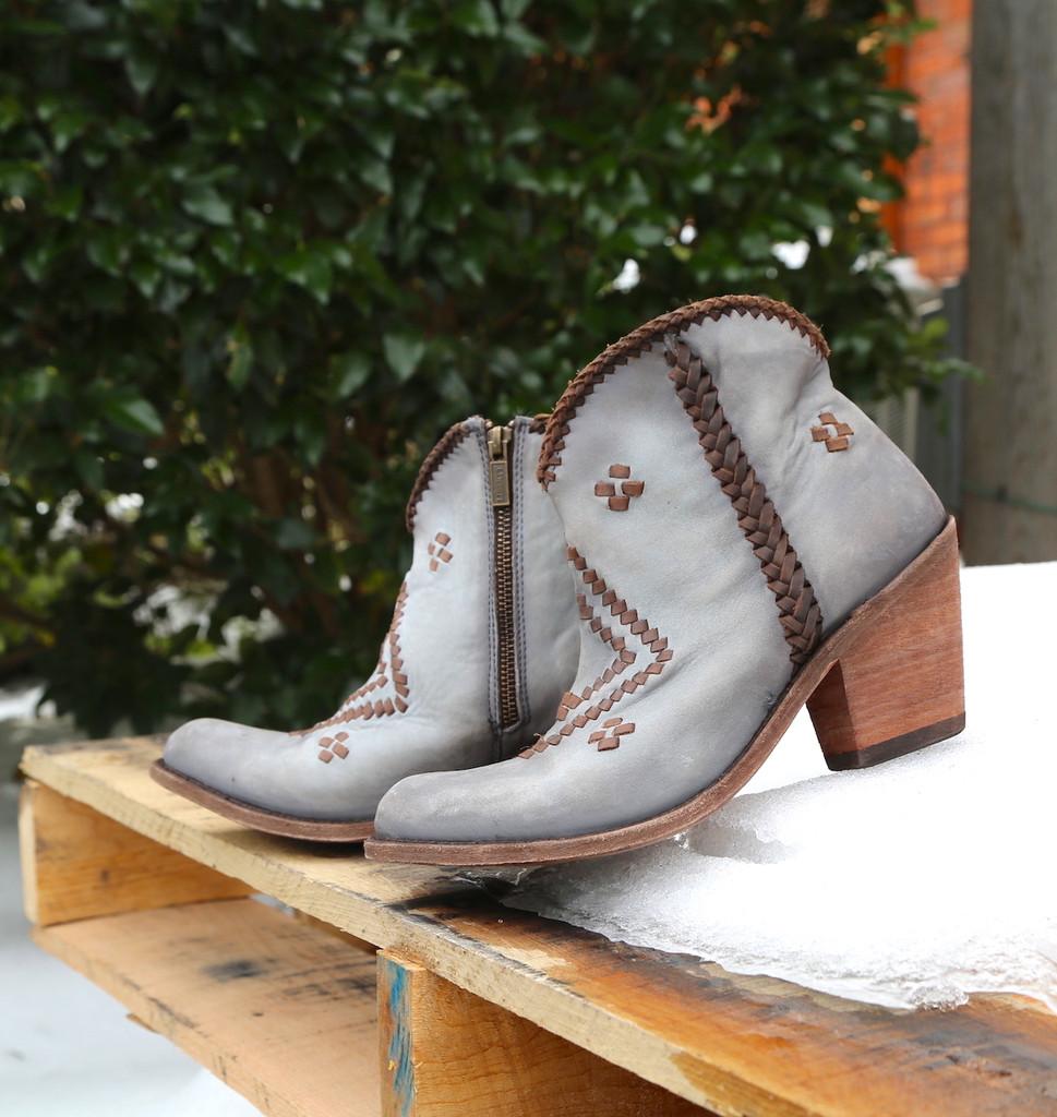 Liberty Black Aztec Zipper Boot Gray LB712376 Side