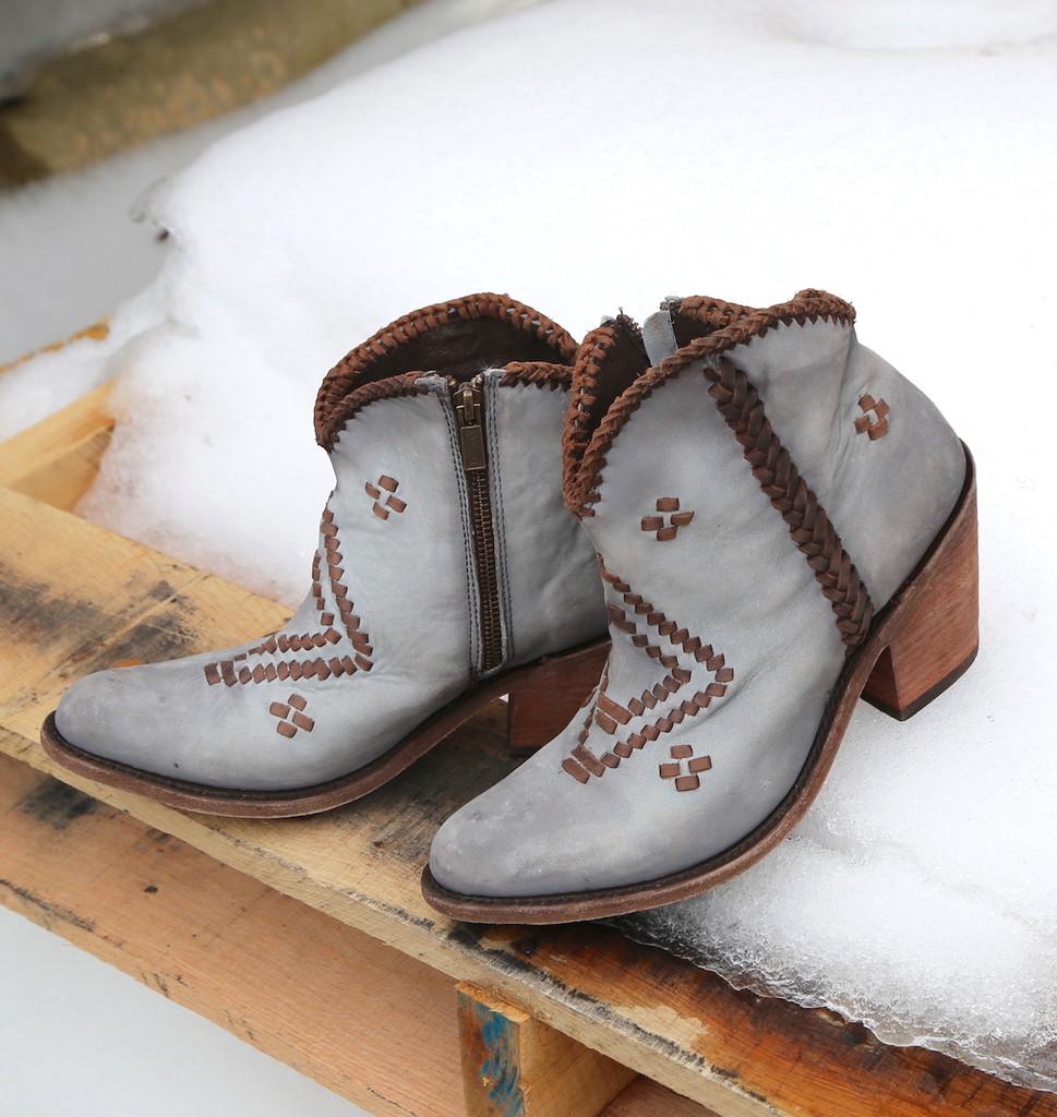 Liberty Black Aztec Zipper Boot Gray LB712376 Picture