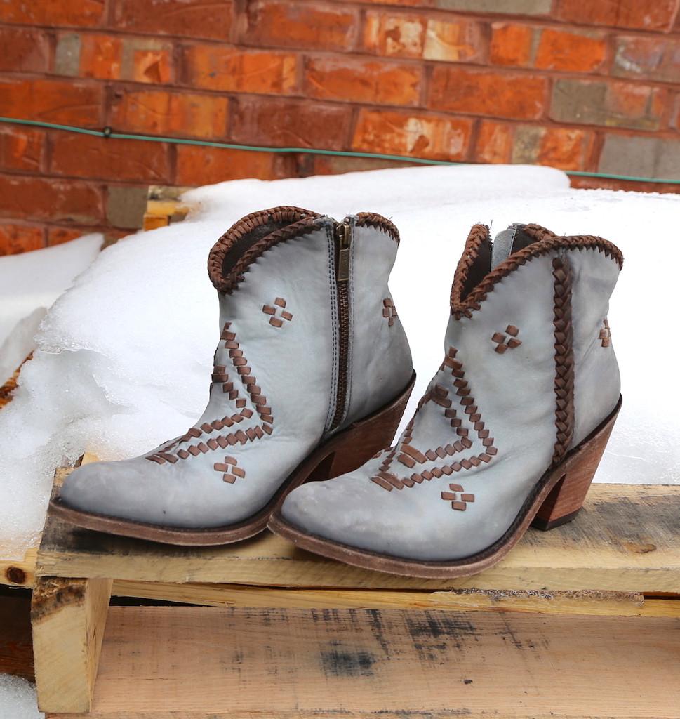 Liberty Black Aztec Zipper Boot Gray LB712376 Front