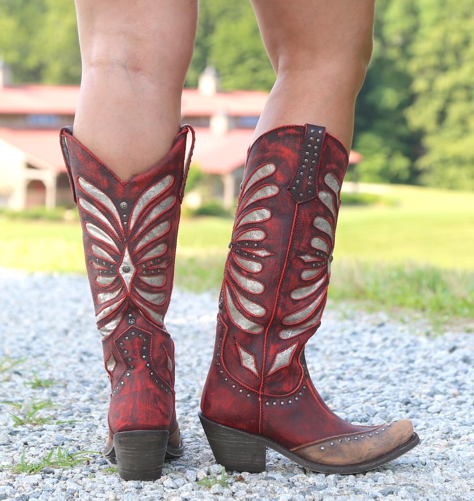 Liberty Black Tall Vintage Rojo Boots LB711510 Heel