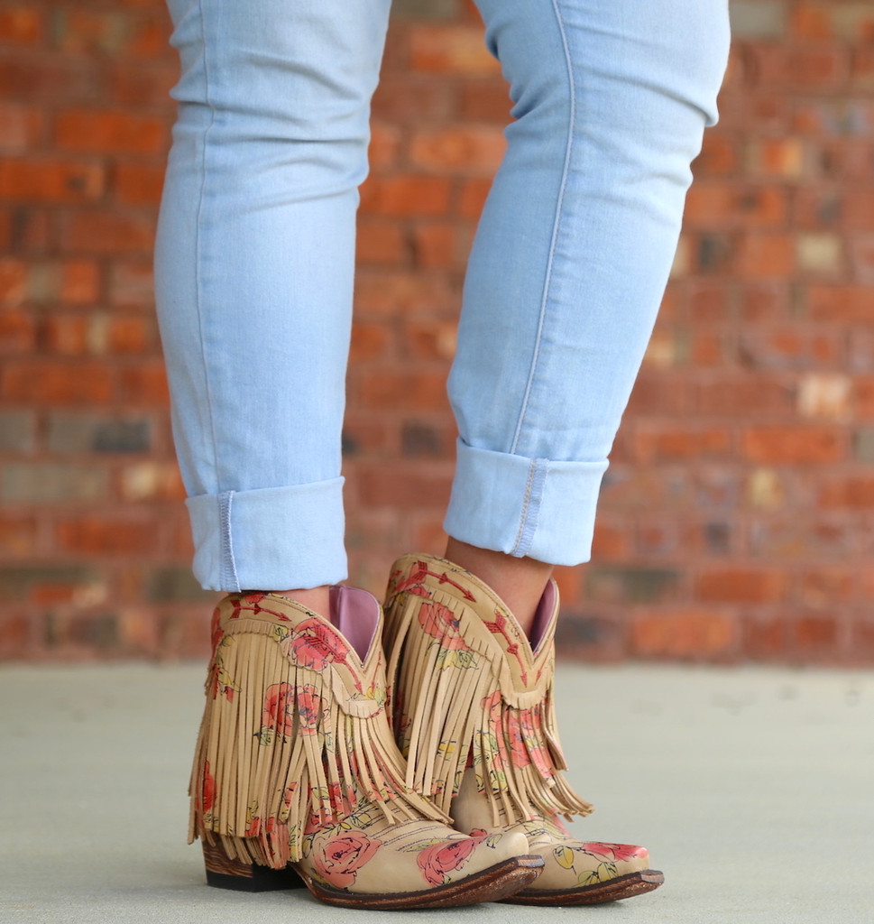 Junk Gypsy by Lane Spitfire Floral Boots JG0007J Picture