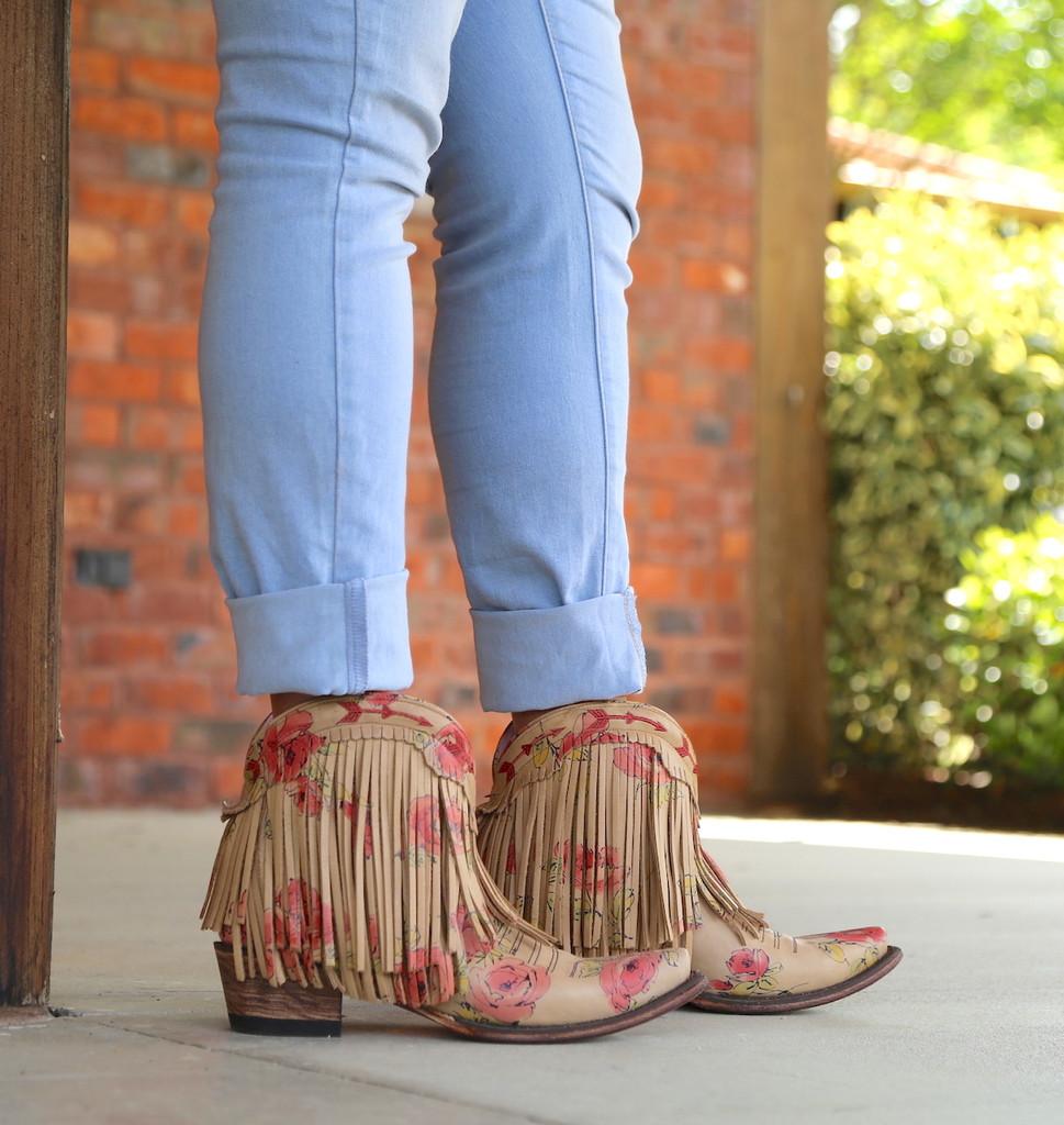 Junk Gypsy by Lane Spitfire Floral Boots JG0007J Fringe