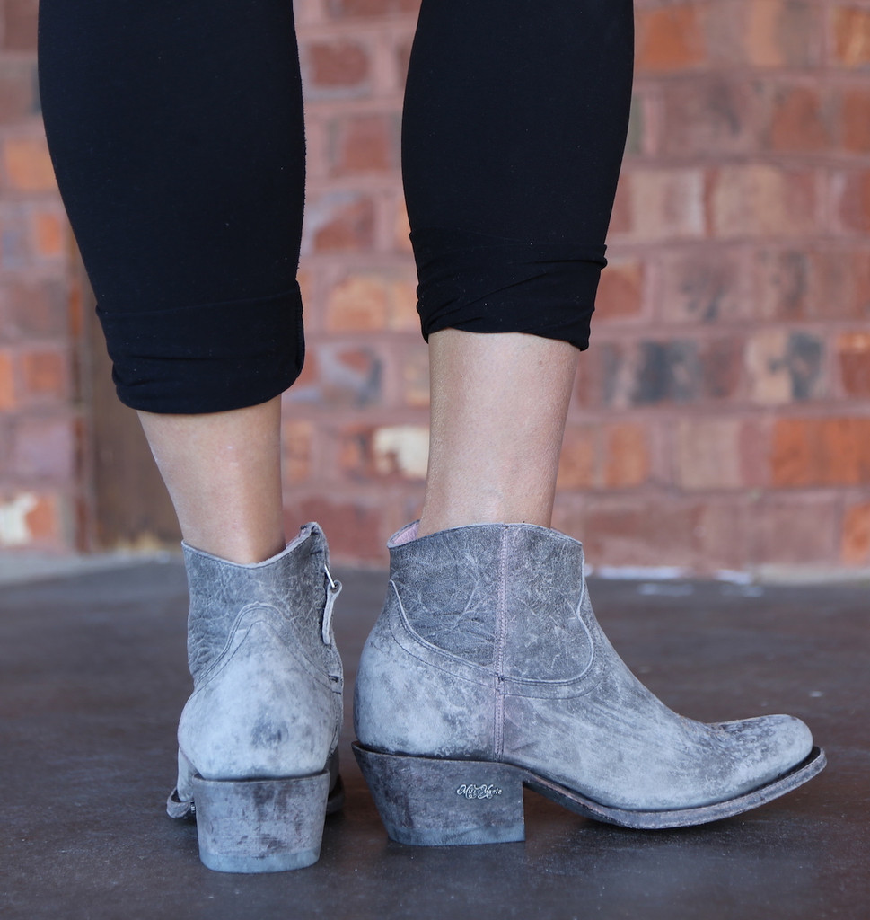 Miss Macie On My Way Grey Boots U7009-02 Heel