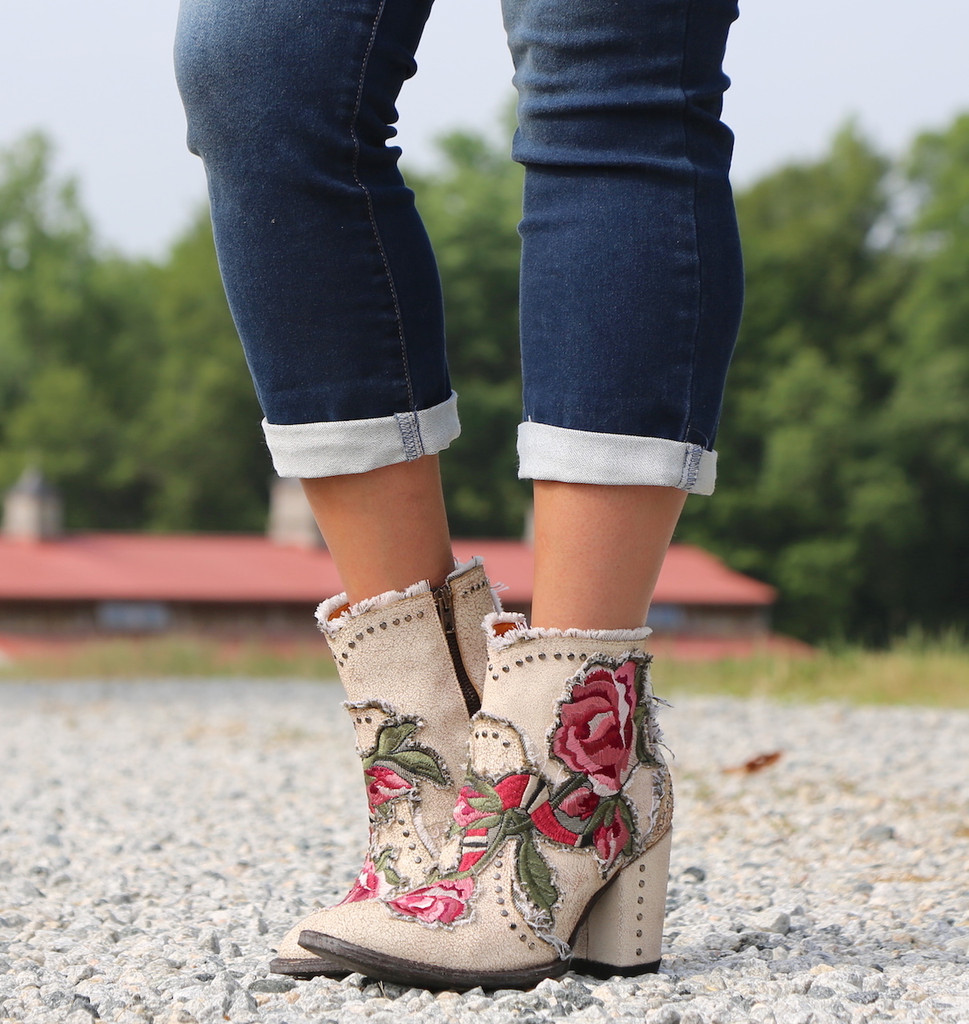 Old Gringo Carla Short Crackled Taupe Boots BL3184-3 Photo