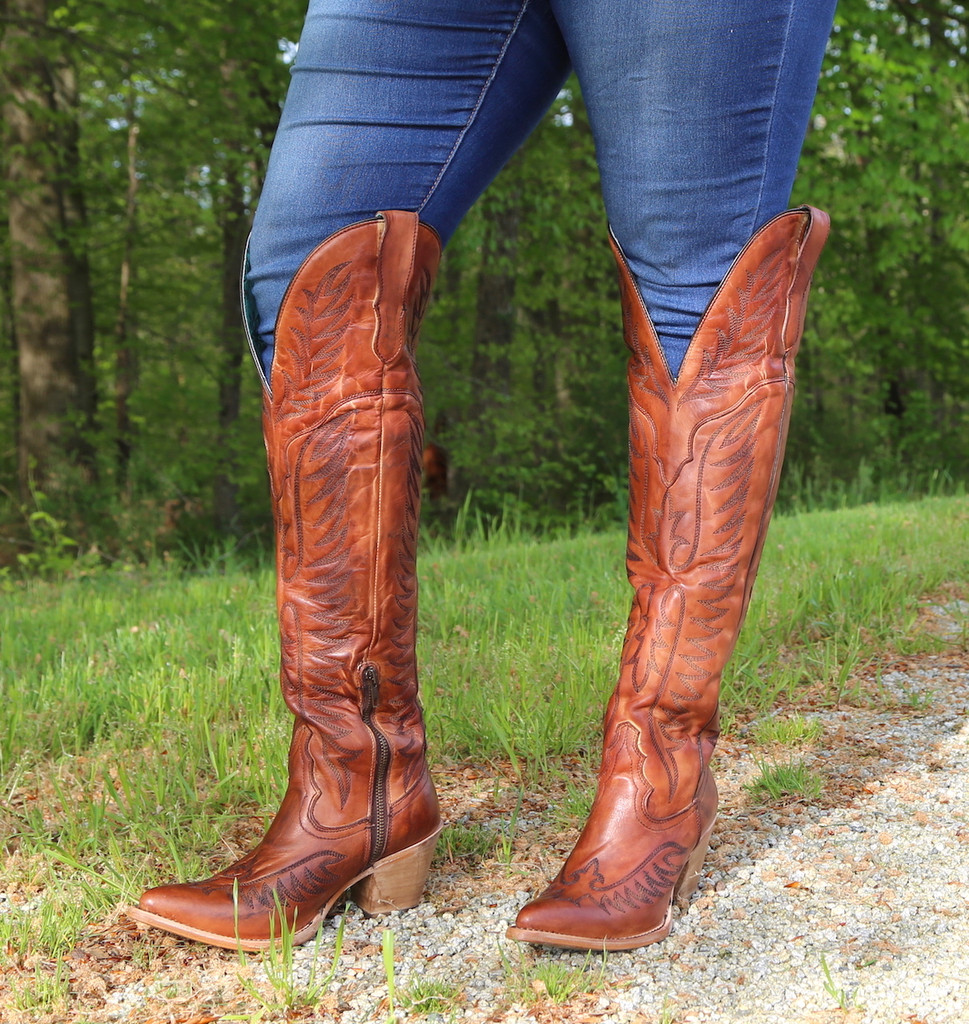 Corral Cognac Embroidery Tall Top Boots E1507 Picture