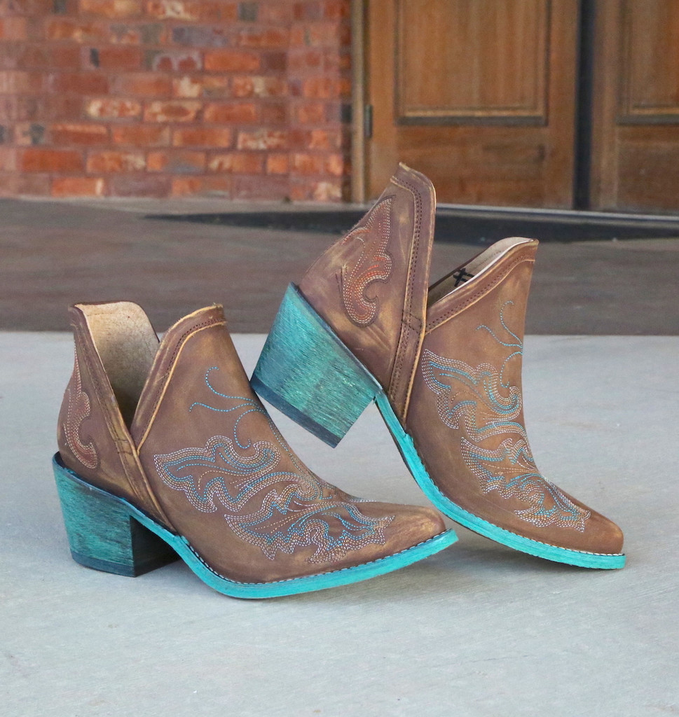 Corral Cognac Embroidery Shoe Boot Q0099 Image