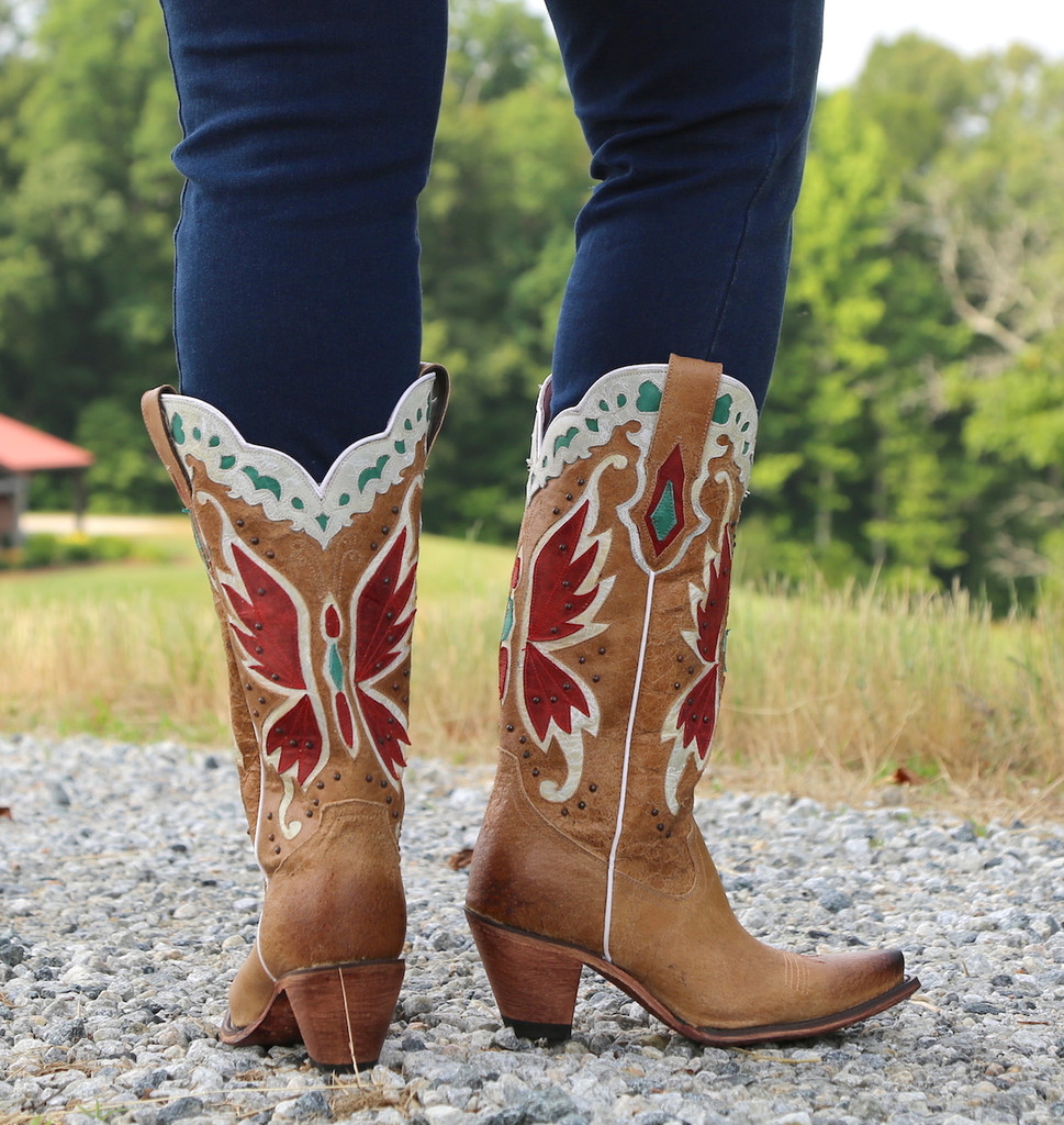 Junk Gypsy by Lane Day Dreamer Tan Boots JG0029B Heel