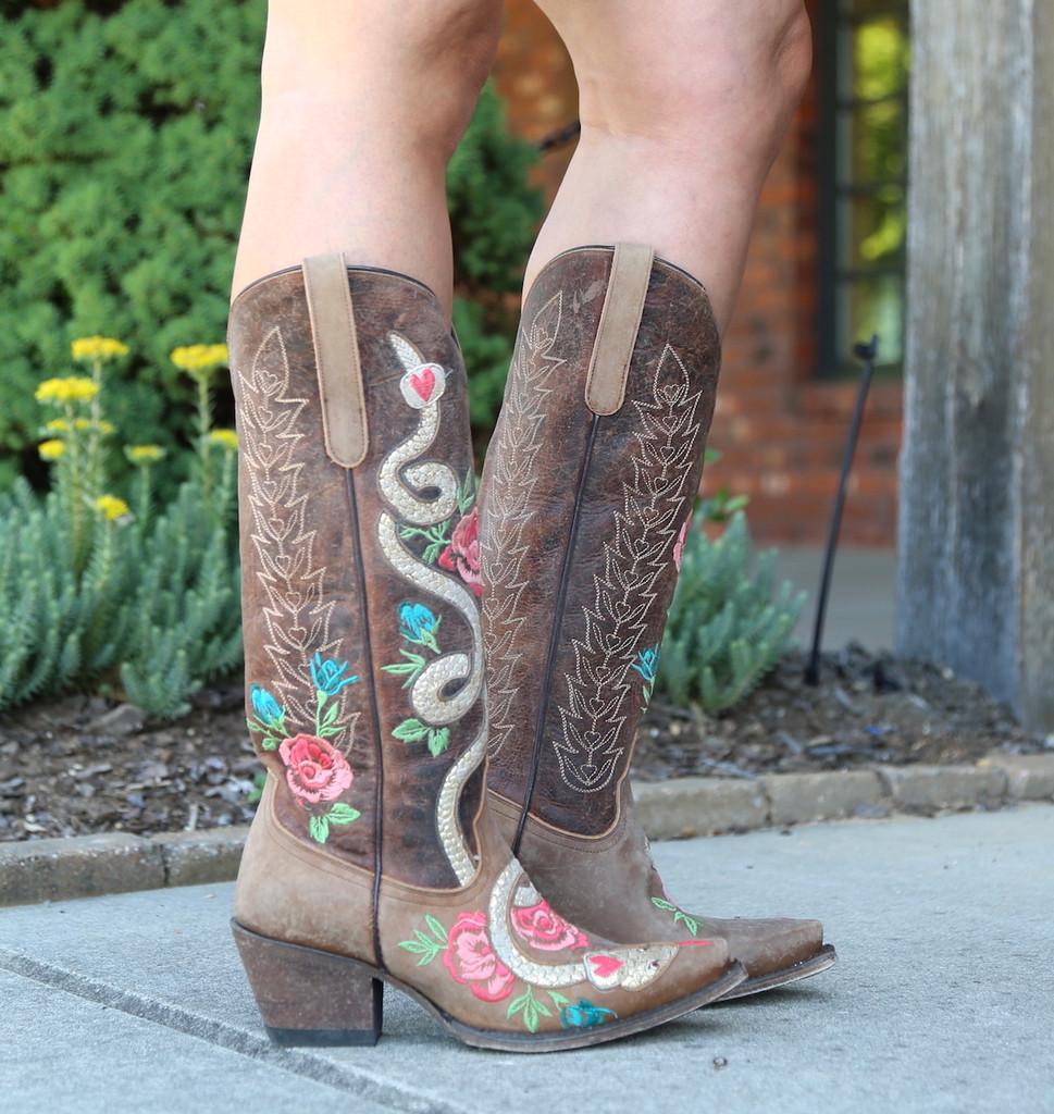 Junk Gypsy by Lane Charmer Brown Boots JG0054A Side