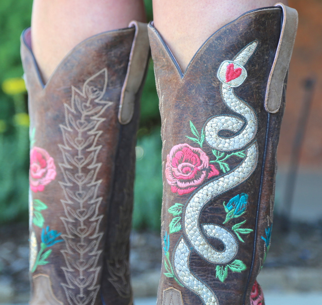 Junk Gypsy by Lane Charmer Brown Boots JG0054A Detail