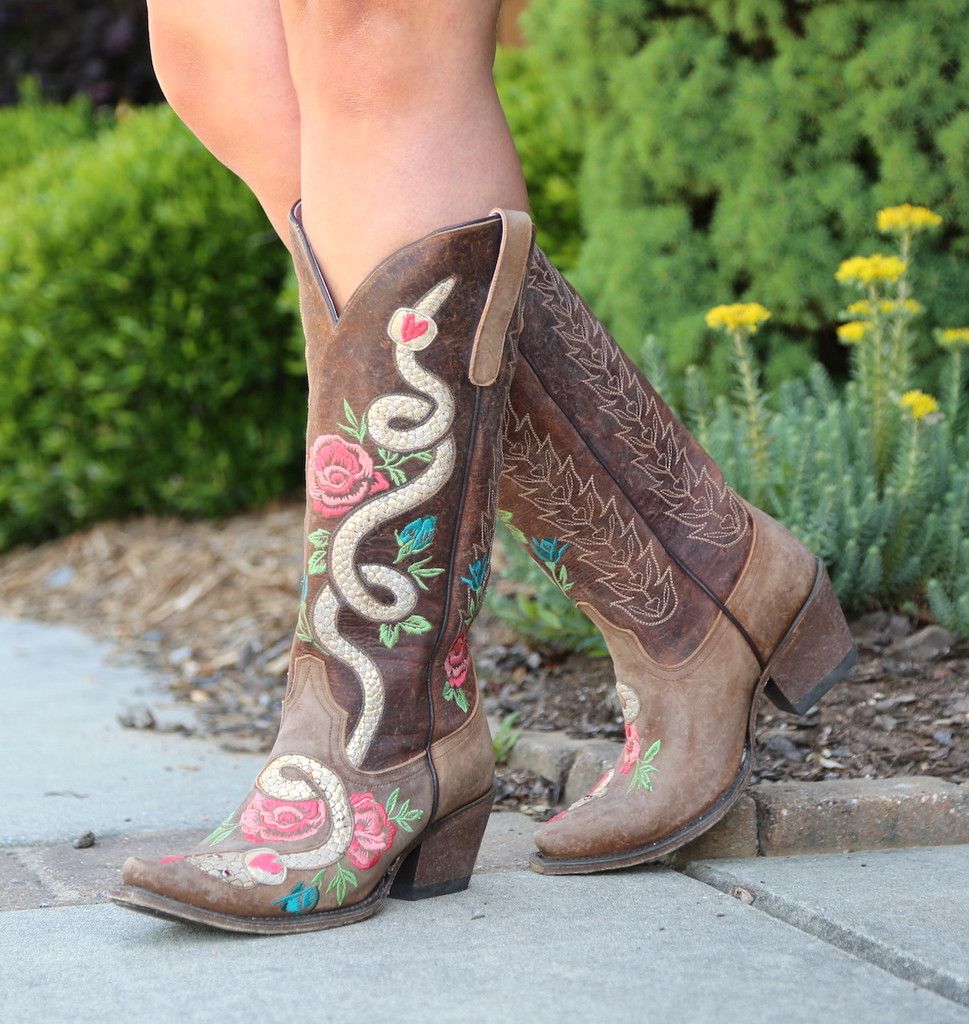 Junk Gypsy by Lane Charmer Brown Boots JG0054A Picture