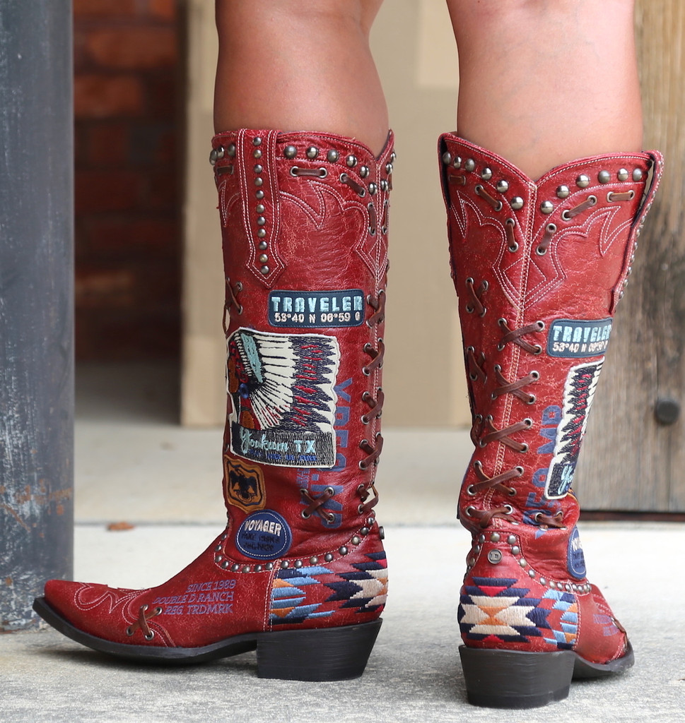 Double D by Old Gringo Escalante Red Boots DDL044-1 Heel