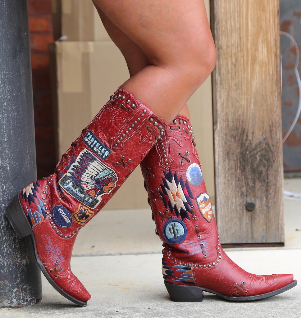 Double D by Old Gringo Escalante Red Boots DDL044-1 Detail
