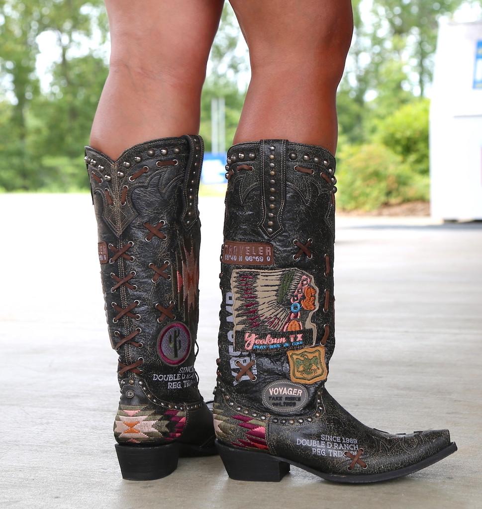 Double D by Old Gringo Escalante Black Boots DDL044-2 Heel