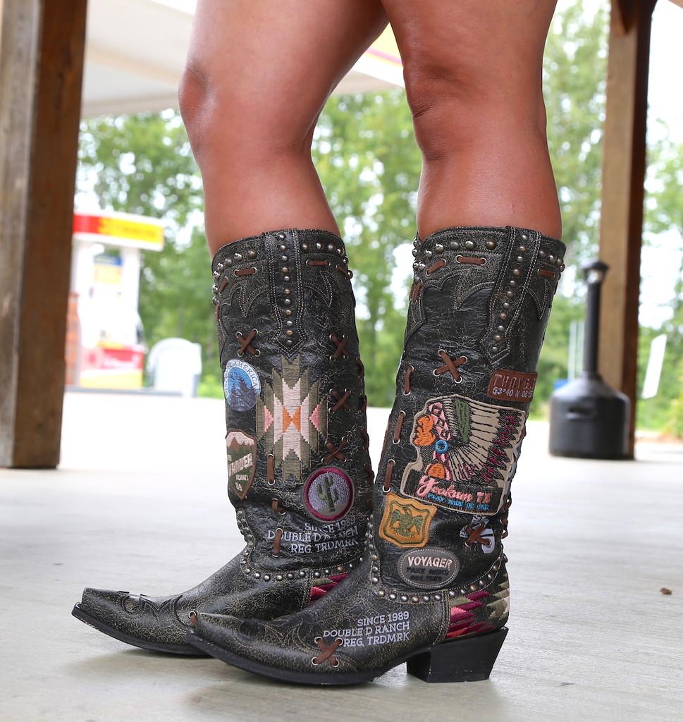 Double D by Old Gringo Escalante Black Boots DDL044-2 Image