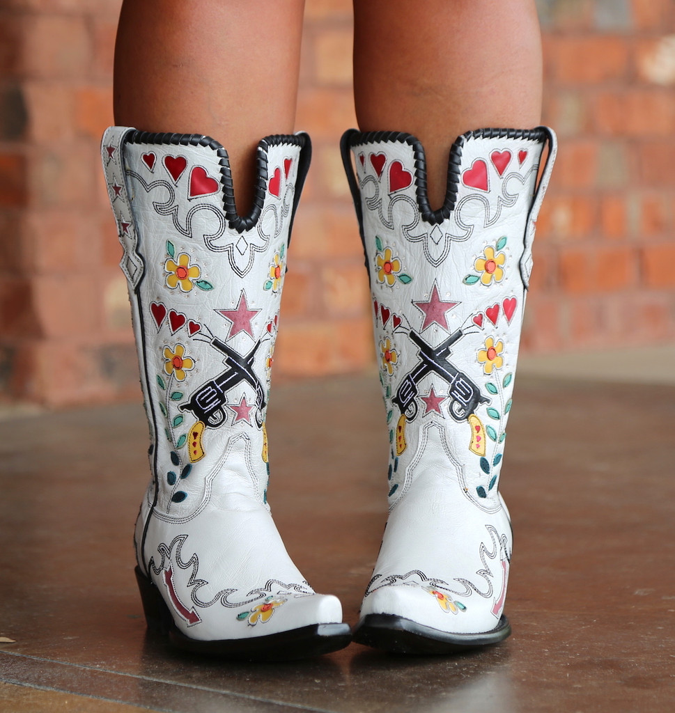 Double D by Old Gringo Cowgirl Bandit White Boots DDL041-2 Picture