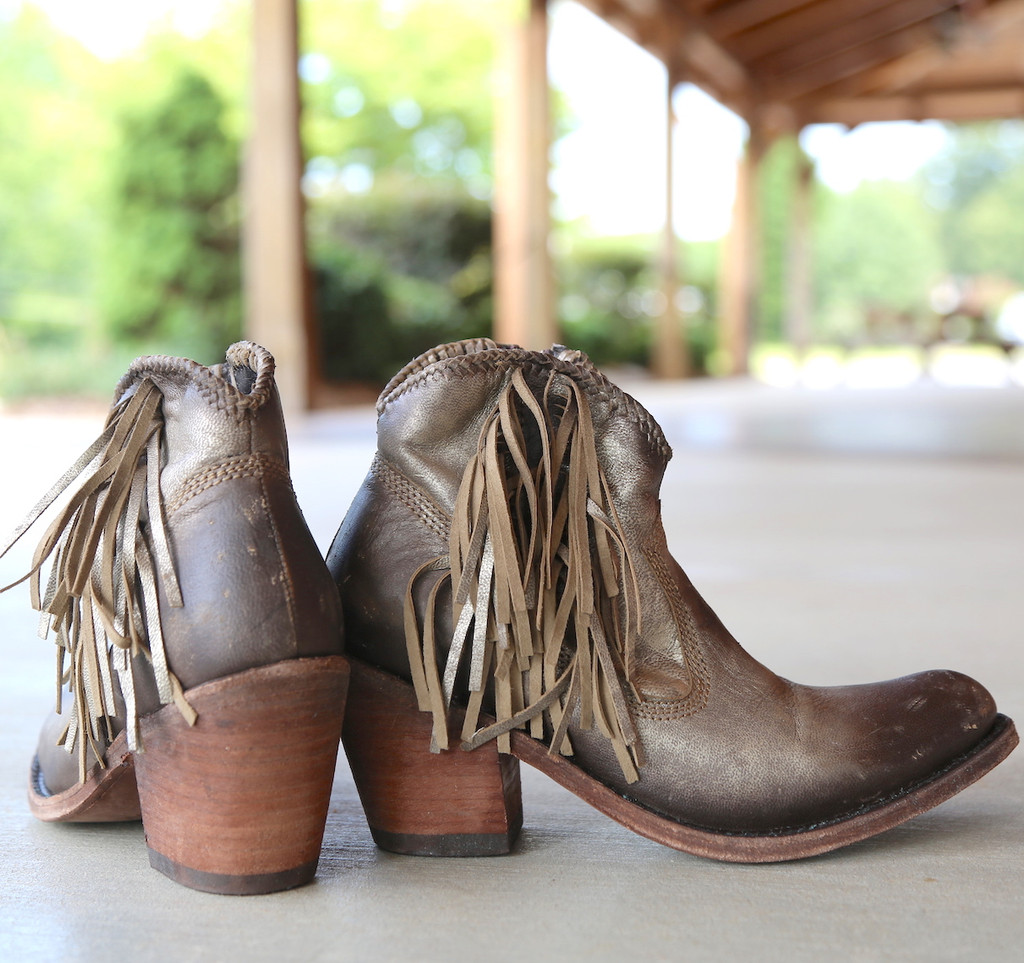 Liberty Black Buffed Metal Boots LB712320 Heel
