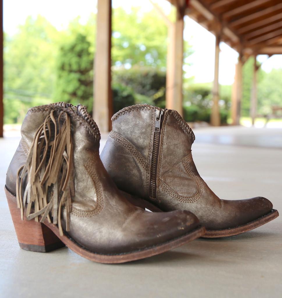 Liberty Black Buffed Metal Boots LB712320 Image