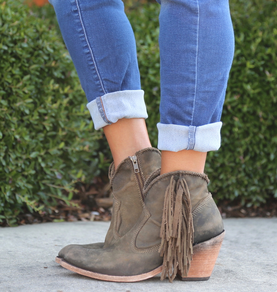 Liberty Black Vegas Military Green Booties LB712320 Picture