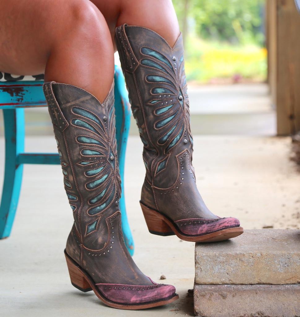Liberty Black Tall Vintage Canela Boots LB711510 Image