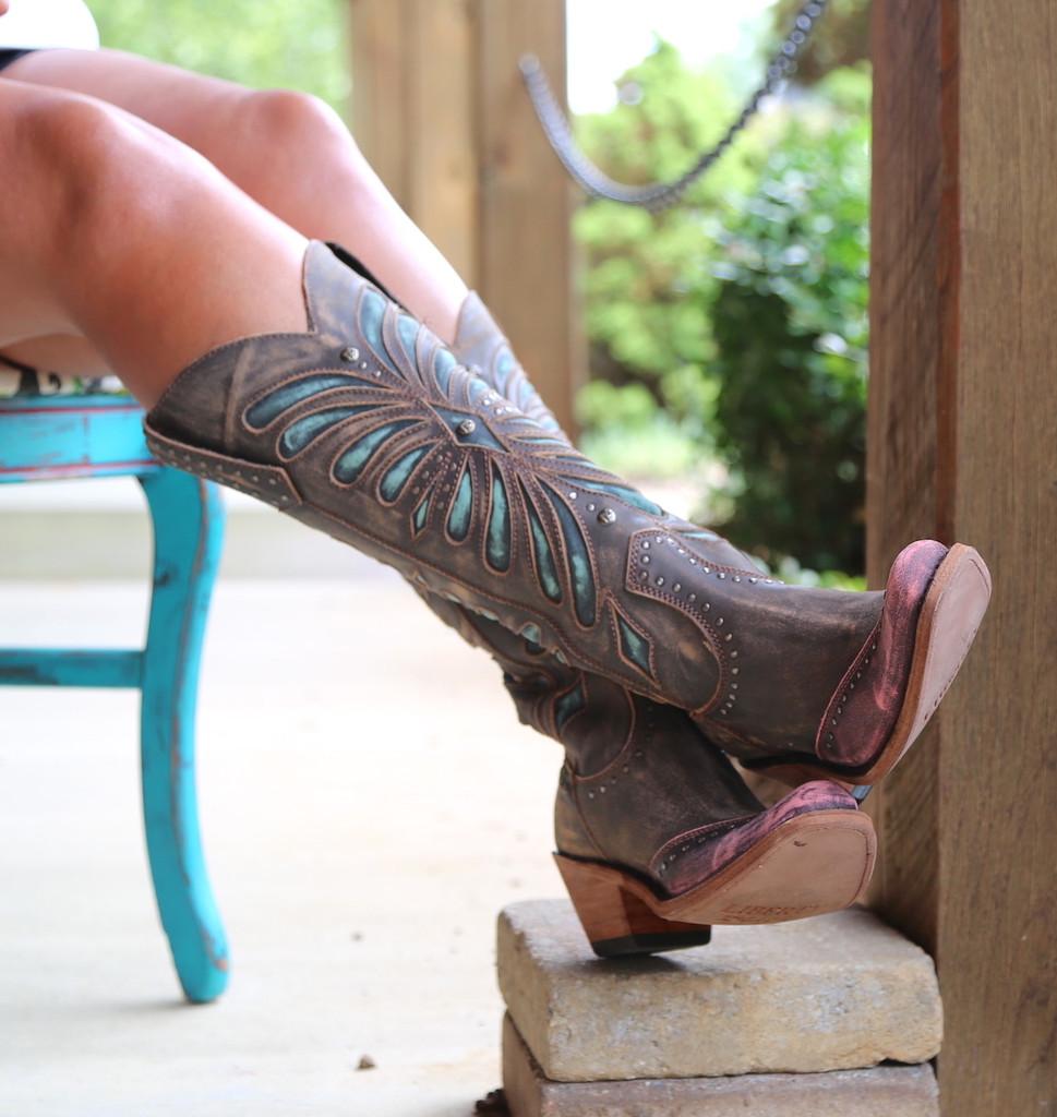 Liberty Black Tall Vintage Canela Boots LB711510 Toe