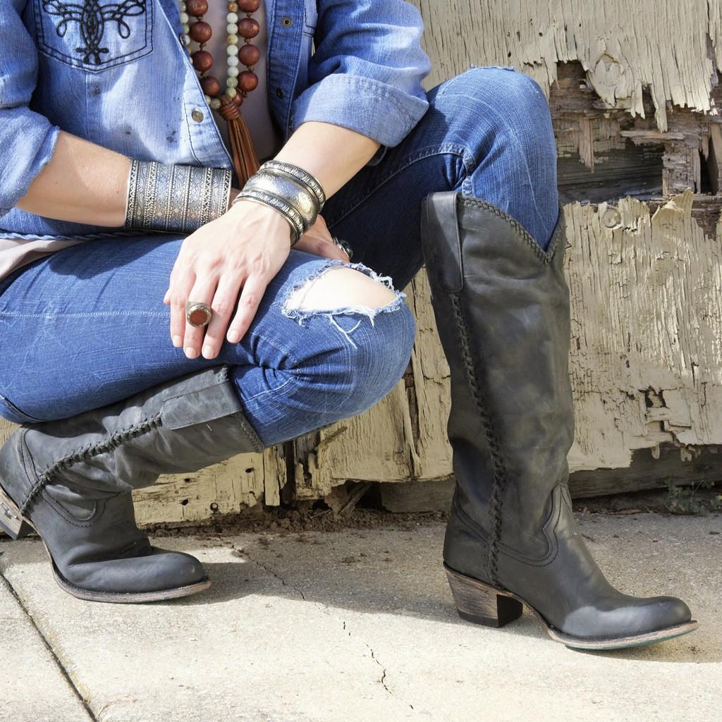 Lane Plain Jane Black Boots LB0350E Image