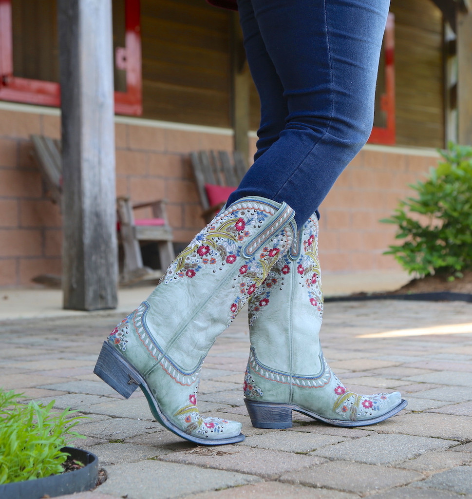 Lane Chloe Turquoise Boots LB0418C Image