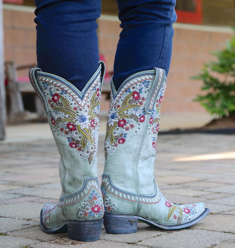 Lane Chloe Turquoise Boots LB0418C Heel