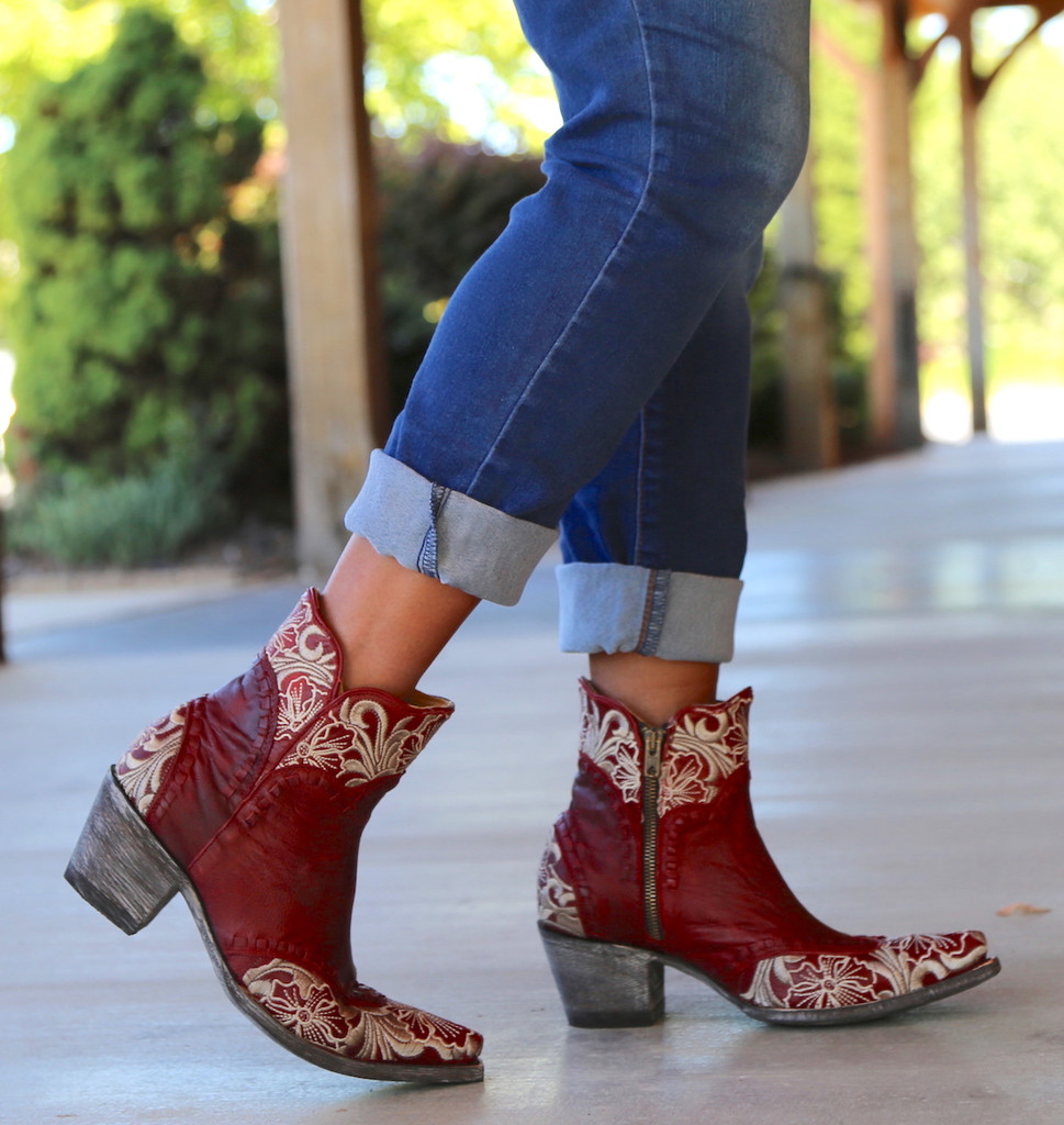 Old Gringo Erin Short Red Boots BL3084-4 Toe