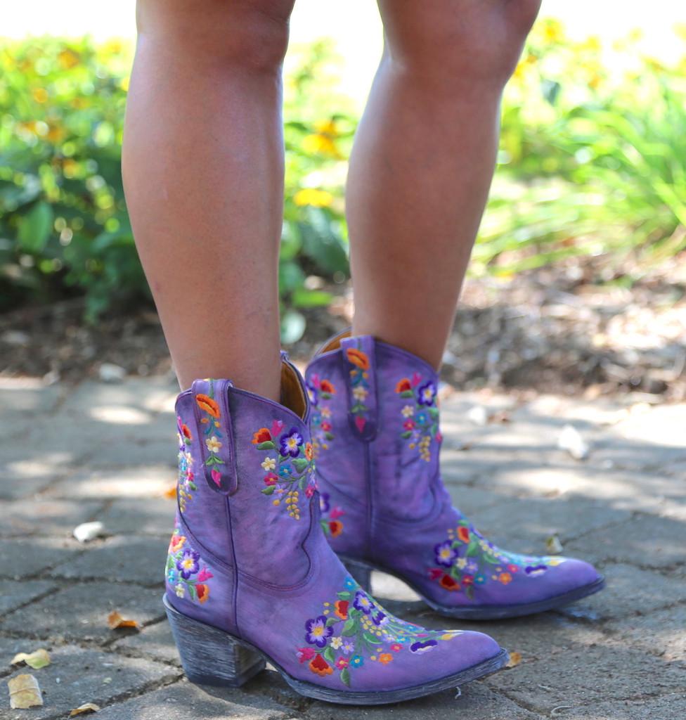 Old Gringo Sora Short Violet Boots L841-41 Embroidery
