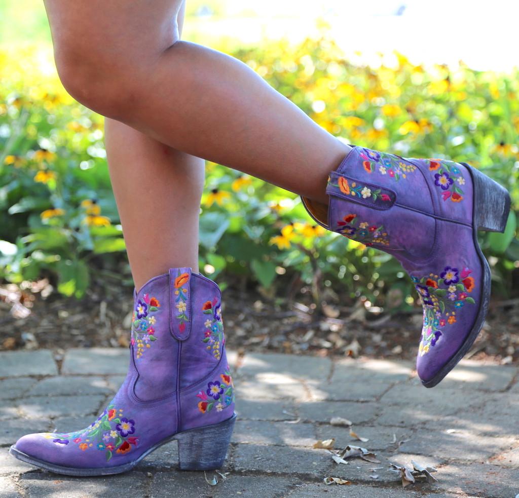 Old Gringo Sora Short Violet Boots L841-41 Toe