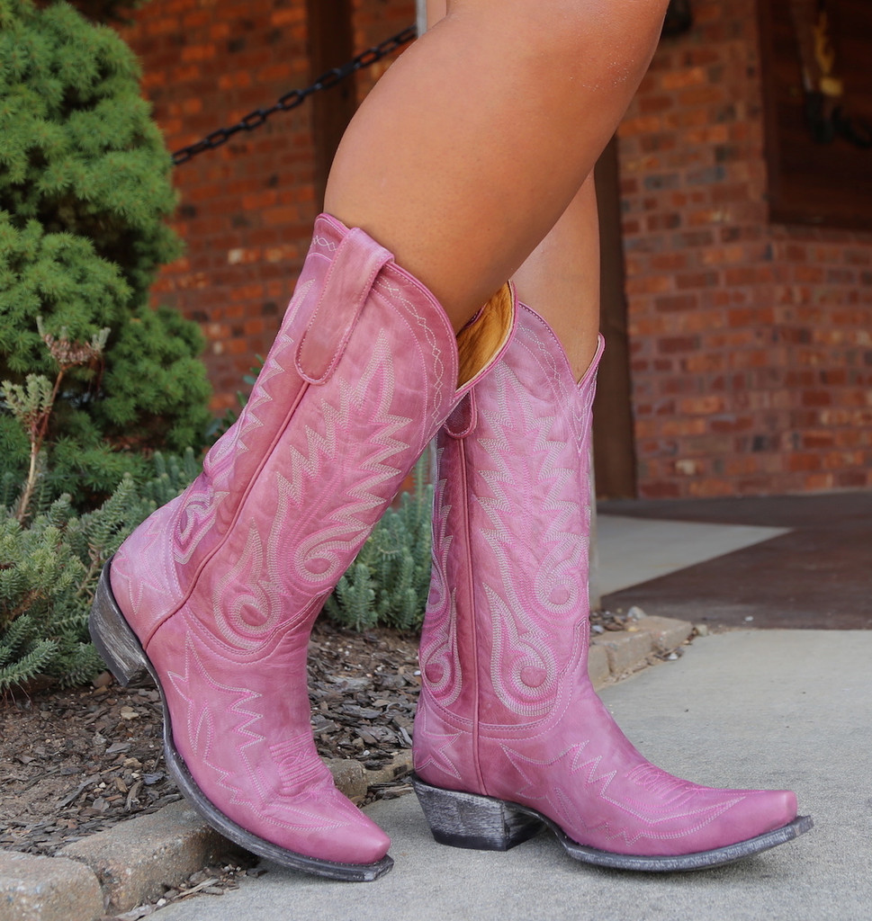Old Gringo Nevada Pink Boots L175-426 Toe