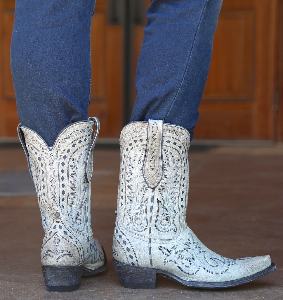 Double D by Old Gringo Texas Jack Vintage Ice Boots DDL033-3 Heel