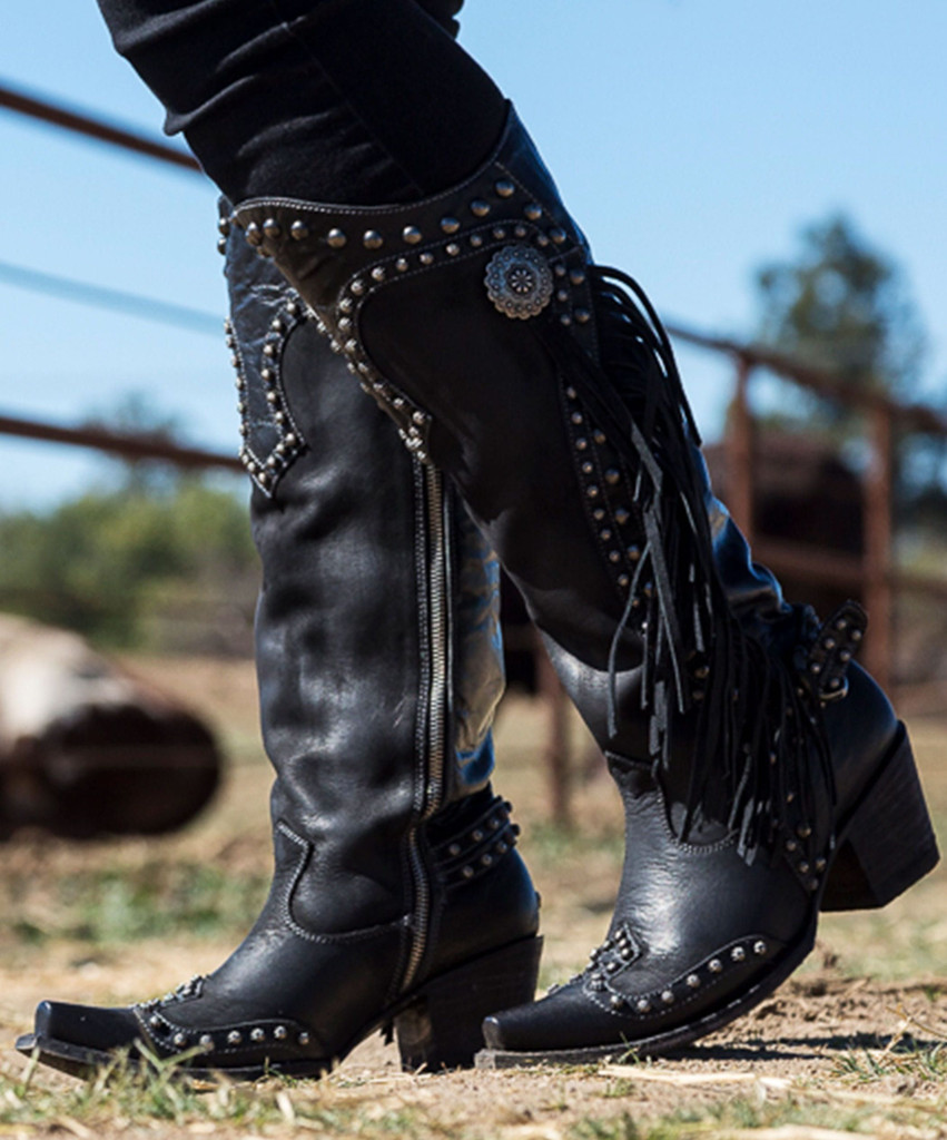 Double D by Old Gringo Rusty Ravine Black Boots DDL017-1 Picture