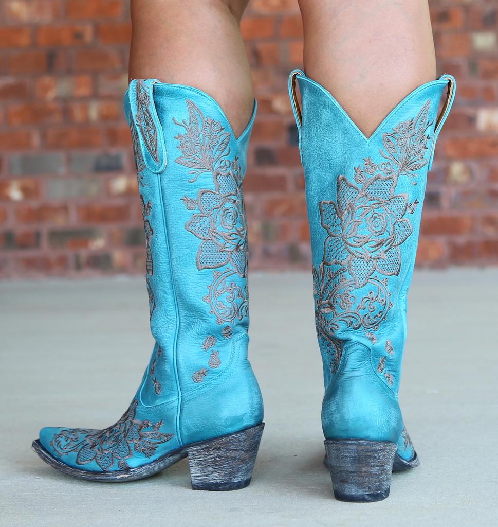 Old Gringo Nicolette Turquoise Boots L2310-9 Heel