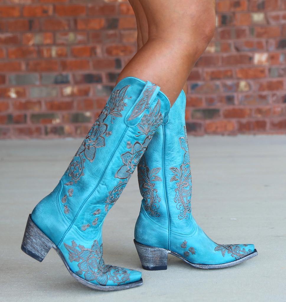 Old Gringo Nicolette Turquoise Boots L2310-9 Walk