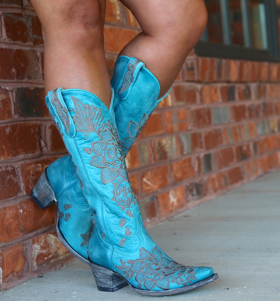 Old Gringo Nicolette Turquoise Boots L2310-9 Picture